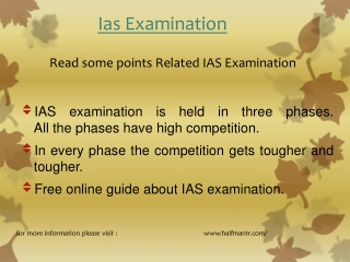 Read some points IAS Examination