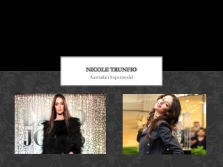Nicole Trunfio Australian Supermodel
