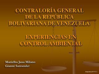 CONTRALOR A GENERAL  DE LA REP BLICA BOLIVARIANA DE VENEZUELA