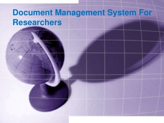 Document Management System For Researchers