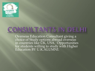 consultants in delhi