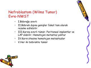 Nefroblastom Wilms Tumor Evre-NWST