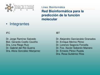 Red Bioinform tica para la predicci n de la funci n molecular