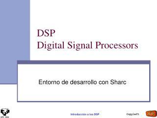DSP  Digital Signal Processors