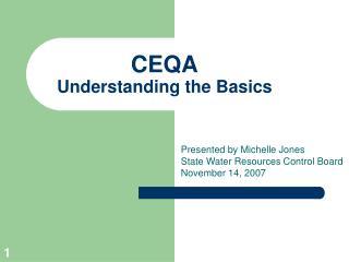 CEQA Understanding the Basics