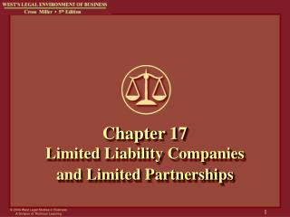 Chapter 17 Limited Liability Companies and Limited Partnerships