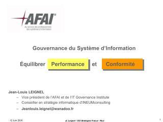 Gouvernance du Syst me d Information
