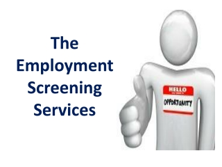The Employment Screening Services