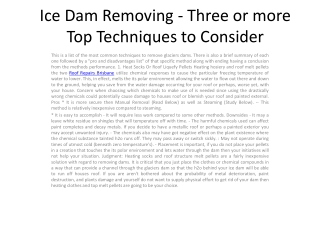 Ice Dam Removing - Three or more Top
