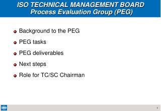 ISO TECHNICAL MANAGEMENT BOARD   Process Evaluation Group PEG