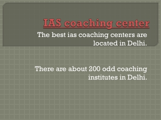 IAS Coaching Center