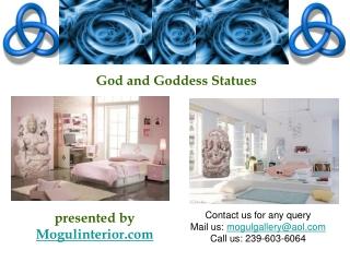 God Goddess Stone Statues
