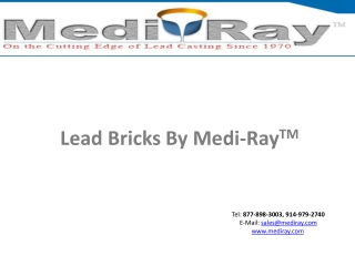 Lead Bricks By Medi-Ray