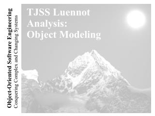 TJSS Luennot Analysis: Object Modeling