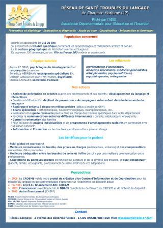 Pilot  par l ADEI :  Association D partementale pour l Education et l Insertion