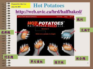 Hot Potatoes web.uvic