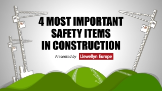 4 Most Important Safety Items in Construction