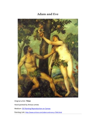 Adam and Eve--Artisoo