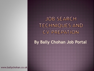 Bally Chohan Job Portal | Bally Chohan UK