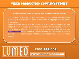 Video production Australia at its best