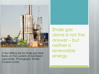 Shale Gas Alone Is Not the Answer