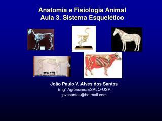 Anatomia e Fisiologia Animal Aula 3. Sistema Esquel tico