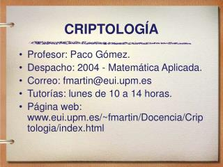 CRIPTOLOG A