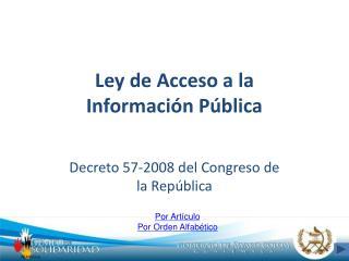 Ley de Acceso a la Informaci n P blica