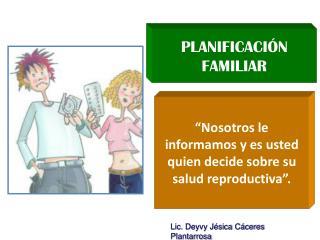 PLANIFICACI N FAMILIAR