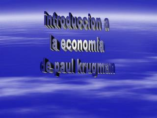 Introduccion a  la economia  de paul krugman