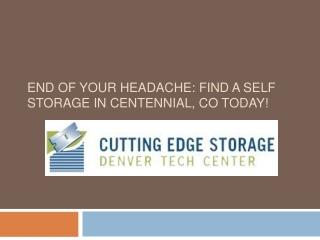 Cutting Edge Storage