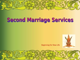 Second Marriage Service | Divorcee Matrimonial | Second Shaa