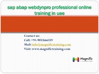 sap abap webdynpro professional online training in uae