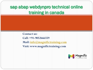 sap abap webdynpro technical online training in canada