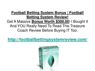 Football Betting System Review