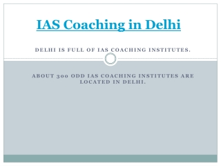 IAS Coaching institutes Delhi