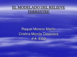 EL MODELADO DEL RELIEVE TERRESTRE