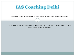 IAS Coaching Institutes