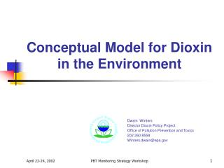 Conceptual Model for Dioxin in the Environment
