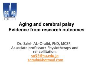 Dr. Saleh AL-Oraibi, PhD, MCSP,  Associate professor