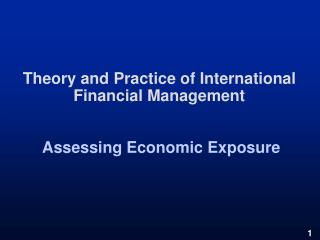 theory and practice of international financial management