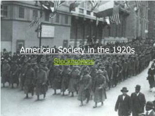 american society in the 1920s