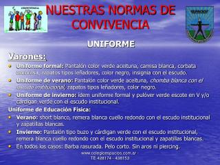 NUESTRAS NORMAS DE CONVIVENCIA