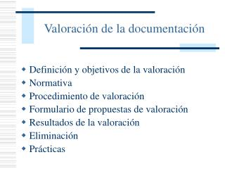 Valoraci n de la documentaci n