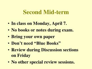 Second Mid-term