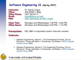 Software Engineering II Spring 2007
