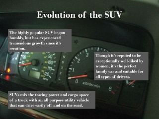 Evolution of the SUV