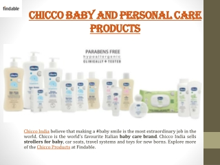 Chicco Baby Care and Personal Care Products at Findable
