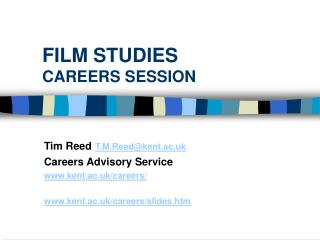 FILM STUDIES CAREERS SESSION