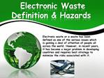 Electronic Waste Definition